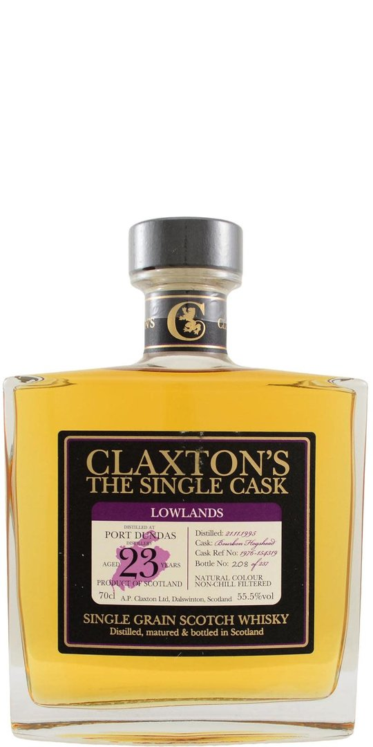 Port Dundas 23y, 1995, Single Grain Scotch Whisky (Claxton's - The Single Cask)